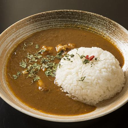 薬膳スープで作ったチキンカレー